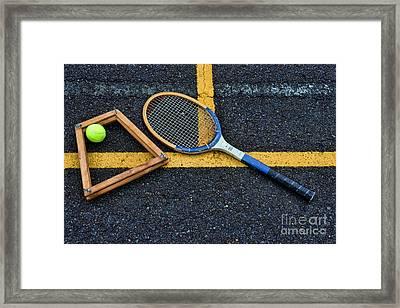 Vintage Tennis Framed Print by Paul Ward