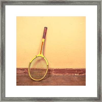 Vintage Tennis Racket Framed Print by Dutourdumonde Photography