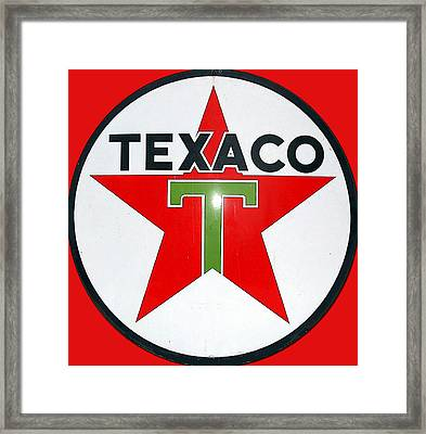 Vintage Texaco Sign Framed Print