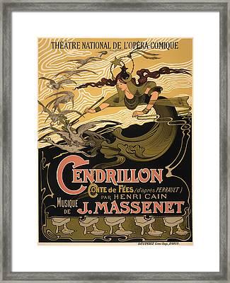 Vintage Theatre Poster - 1899 Framed Print