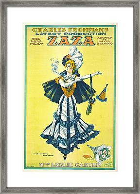 Vintage Theatrical Playbill 1899 Framed Print by Padre Art