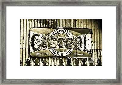 Vintage Tin Sign Framed Print by Perry Webster