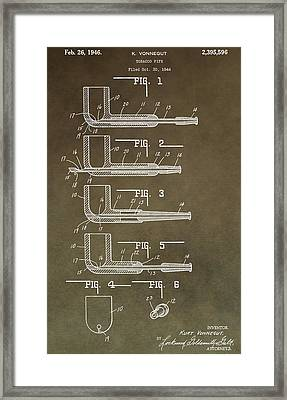 Vintage Tobacco Pipe Patent Framed Print by Dan Sproul