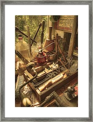 Vintage Tools Framed Print