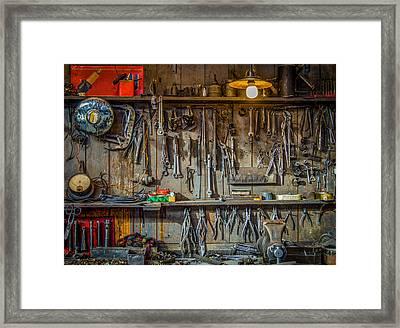 Vintage Tools Workshop Framed Print