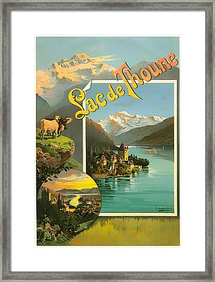 Vintage Tourism Poster 1890 Framed Print by Mountain Dreams