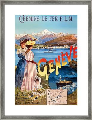 Vintage Tourism Poster Framed Print