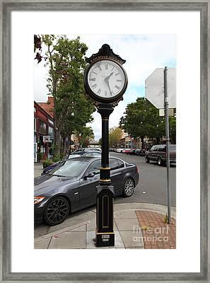 Vintage Town Clock In Historic Railroad Square District Santa Rosa California 5d25878 Framed Print