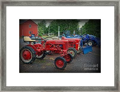 Vintage Tractors Framed Print