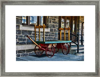 Vintage Train Baggage Wagon Framed Print by Paul Ward