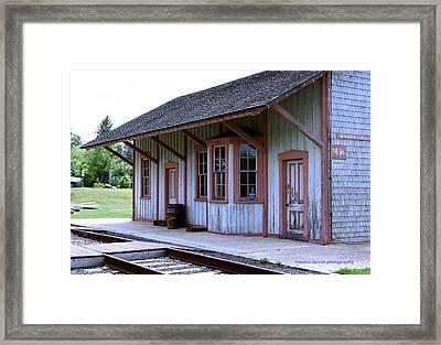 Vintage Train Station Framed Print