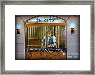 Vintage Train Ticket Booth Framed Print by Gary Keesler