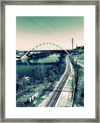 Vintage Train Tracks In Nashville Framed Print by Dan Sproul