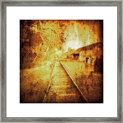 Vintage  Railway Portland Pa Usa Framed Print