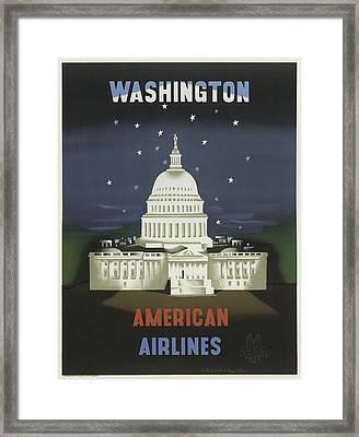 Vintage Travel Poster - Washington Framed Print