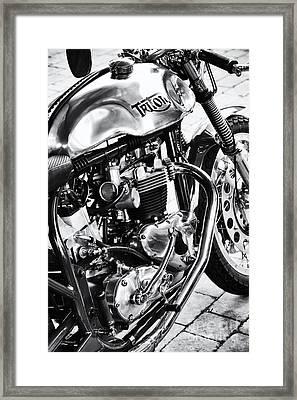 Vintage Triton Cafe Racer Framed Print