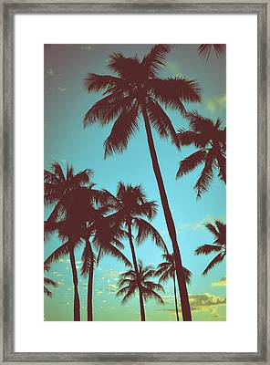 Vintage Tropical Palms Framed Print by Mr Doomits