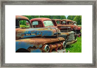 Vintage Trucks 2 Framed Print