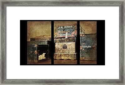 Vintage Trunks #1 Triptych Framed Print by Nikolyn McDonald