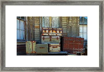 Vintage Trunks   Sold Framed Print