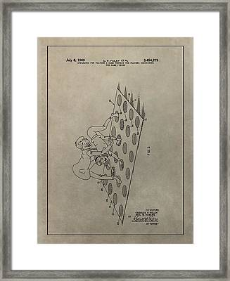 Vintage Twister Game Patent Framed Print by Dan Sproul