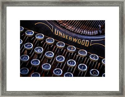 Vintage Typewriter 2 Framed Print by Scott Norris