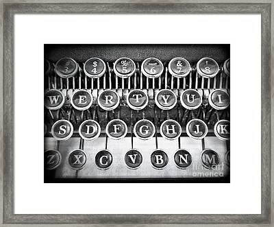 Vintage Typewriter Framed Print by Edward Fielding