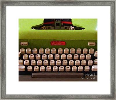 Vintage Typewriter - Painterly Framed Print by Wingsdomain Art and Photography
