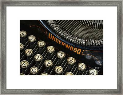Vintage Typewriter Framed Print by Paul Ward