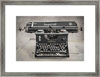 Vintage Typewriter Framed Print by Svetlana Sewell