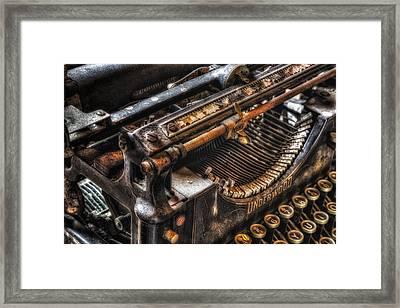 Vintage Underwood Typewriter Framed Print by Susan Candelario