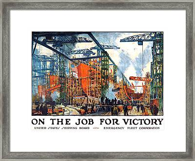 Vintage Us Shipping Poster Framed Print by Gary Bodnar