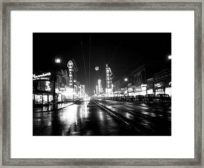 Vintage Vancouver 1951 Framed Print by Mountain Dreams