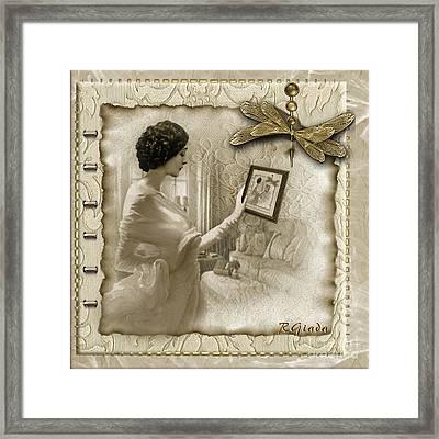 Vintage Vanity Framed Print by Giada Rossi