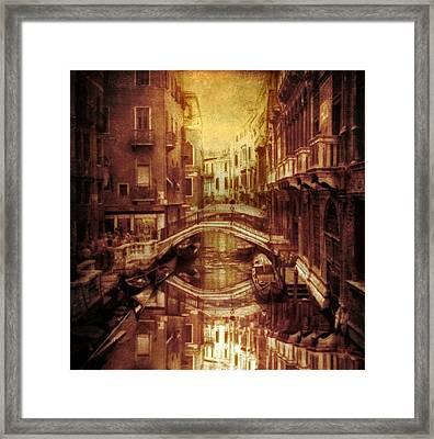 Vintage Venice Framed Print by Jessica Jenney