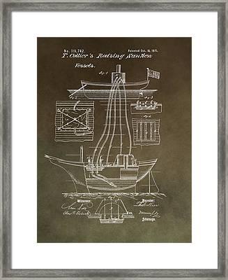 Vintage Vessel Recovery Patent Framed Print
