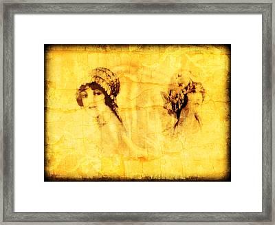 Vintage Victorian Rivals I Framed Print