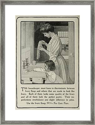Vintage Victorian Soap Advert Framed Print by Georgia Fowler