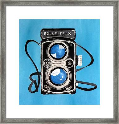 Vintage View Camera Framed Print