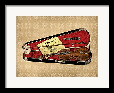 Violin Case Framed Prints