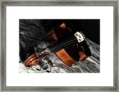 Vintage Violin Framed Print