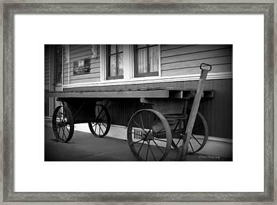 Vintage Wagon Framed Print by Debra Forand