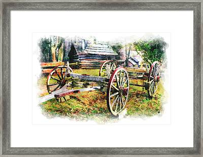 Vintage Wagon On Blue Ridge Parkway IIi Framed Print by Dan Carmichael