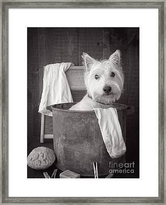 Vintage Wash Day Framed Print by Edward Fielding