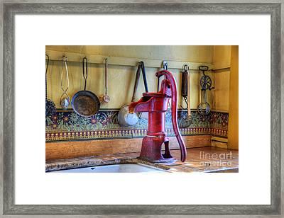 Vintage Water Pump Framed Print by Juli Scalzi