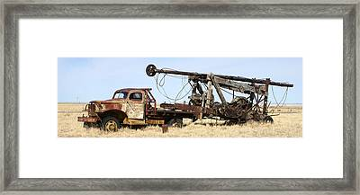 Vintage Water Well Drilling Truck Framed Print