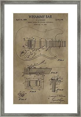 Vintage Whammy Bar Patent Framed Print