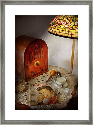 Vintage - What's On The Radio Tonight Framed Print by Mike Savad