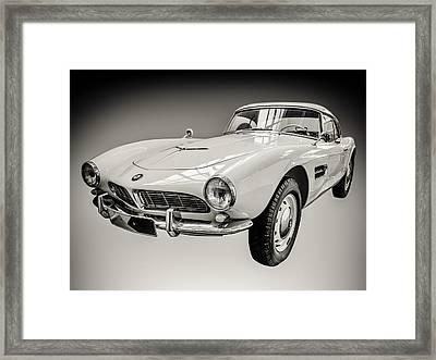 Vintage White Bmw 507 Framed Print