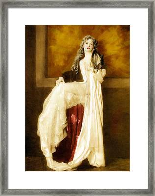 Vintage White Passion  Framed Print by Georgiana Romanovna